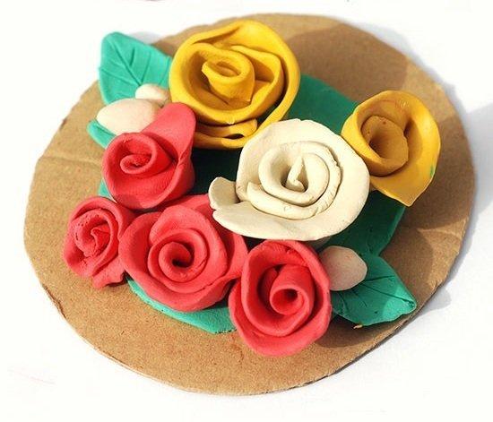 Цветочная композиция из роз