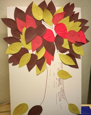 Осеннее дерево желаний