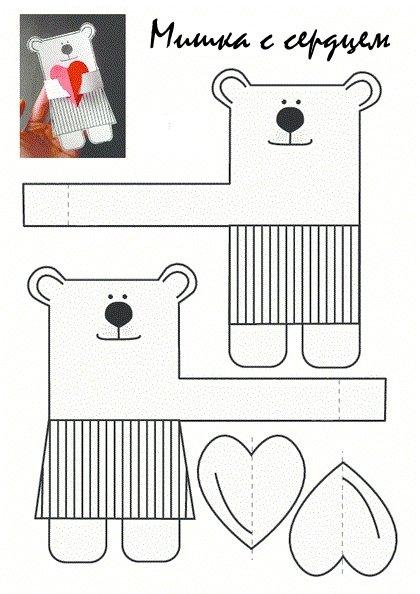 Поделки из бумаги мишка
