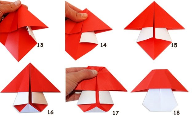 Как сделать мухоморы из бумаги