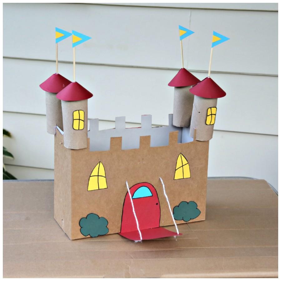 Бумажный замок как сделать