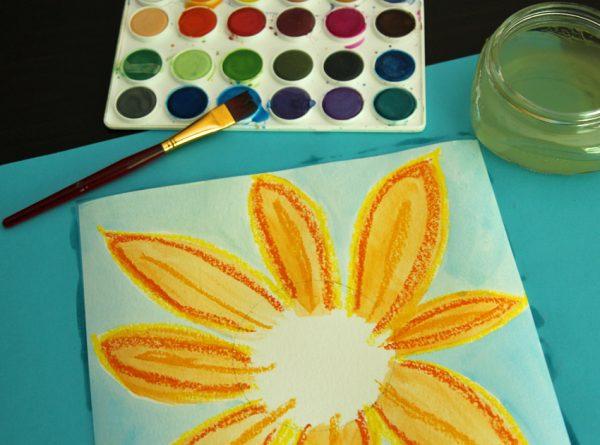 sunflower-mixed-media-bluepaint-600x445