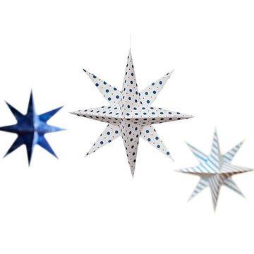 Новогодняя объемная звезда из бумаги