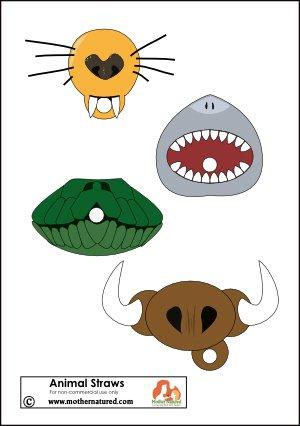 Трубочки с мордочками животных