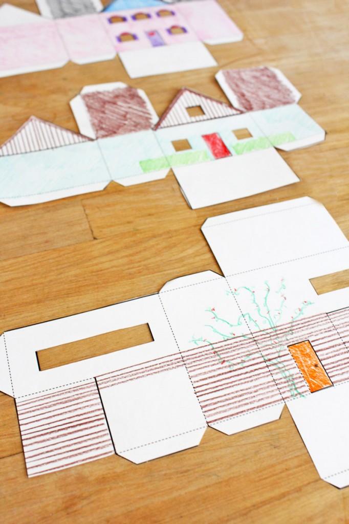 Бумажный город для юных архитекторов