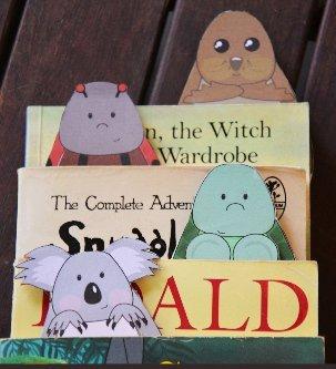Закладки-животные для книг