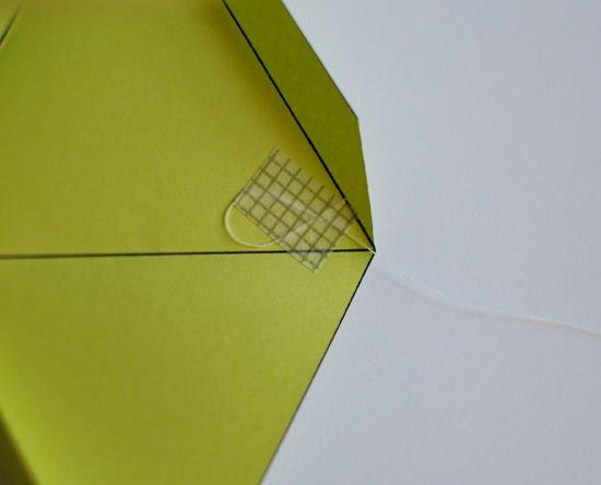 Декоративная подвеска из октаэдров