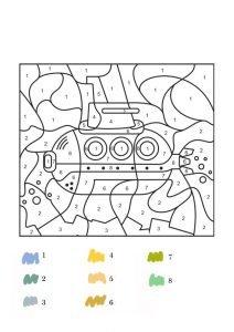 Раскраски с математическими задачками
