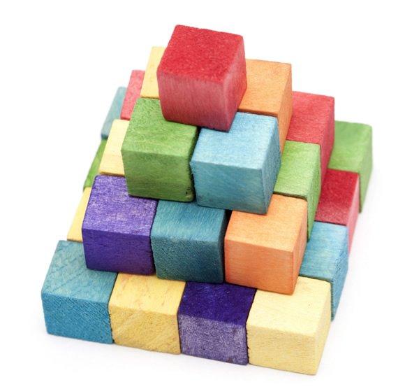 Деревянные кубики паззлы с человечками