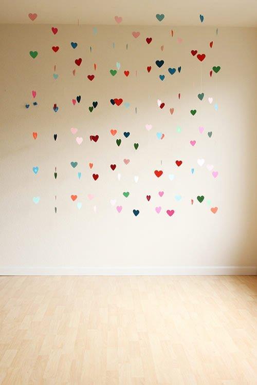 Гирлянда из сердец для украшения комнаты ко Дню святого Валентина