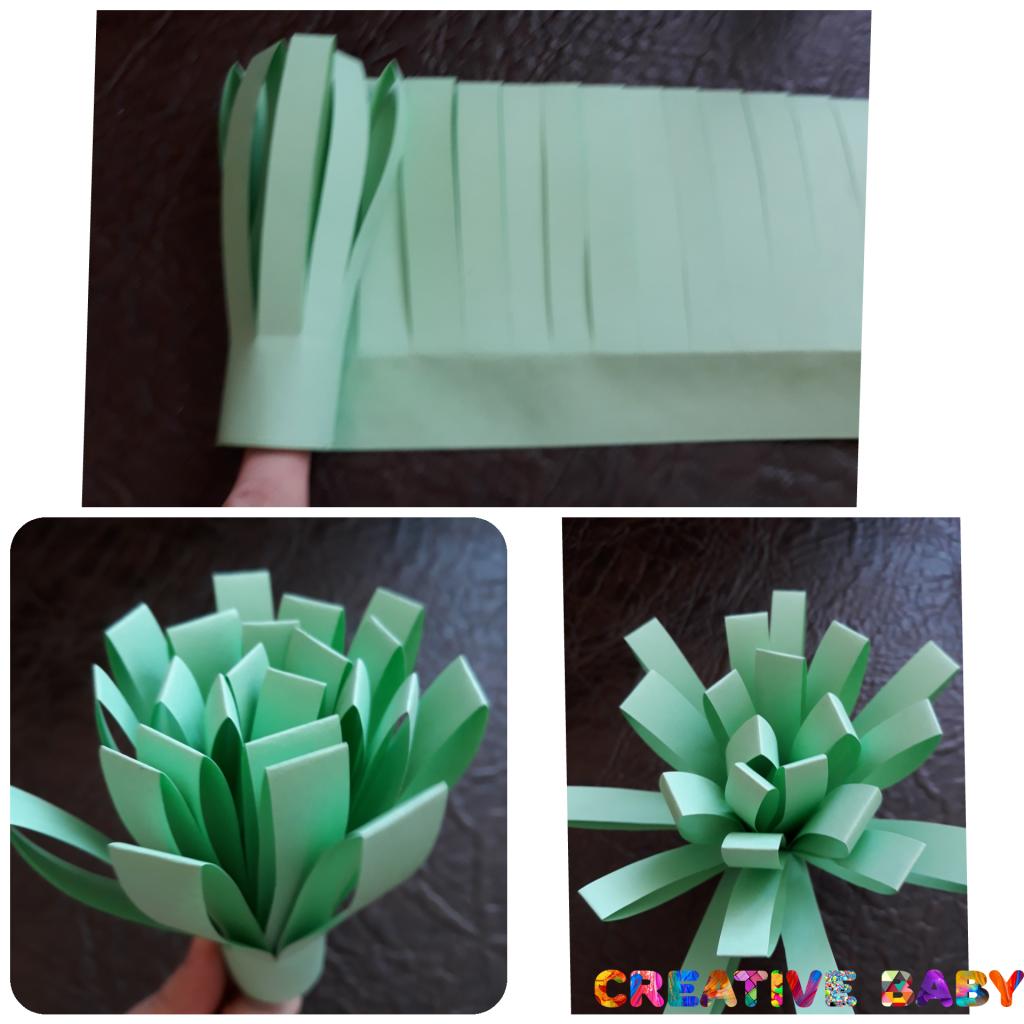 Весенний букет из цветной бумаги