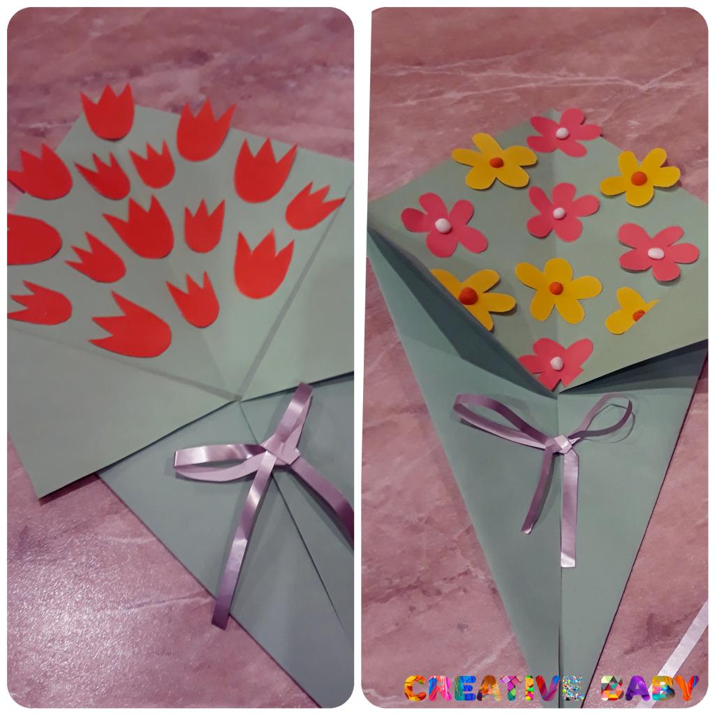 Букетик полевых цветов для мамы