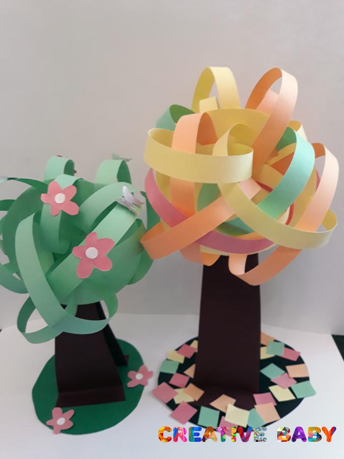 Весеннее дерево из цветной бумаги