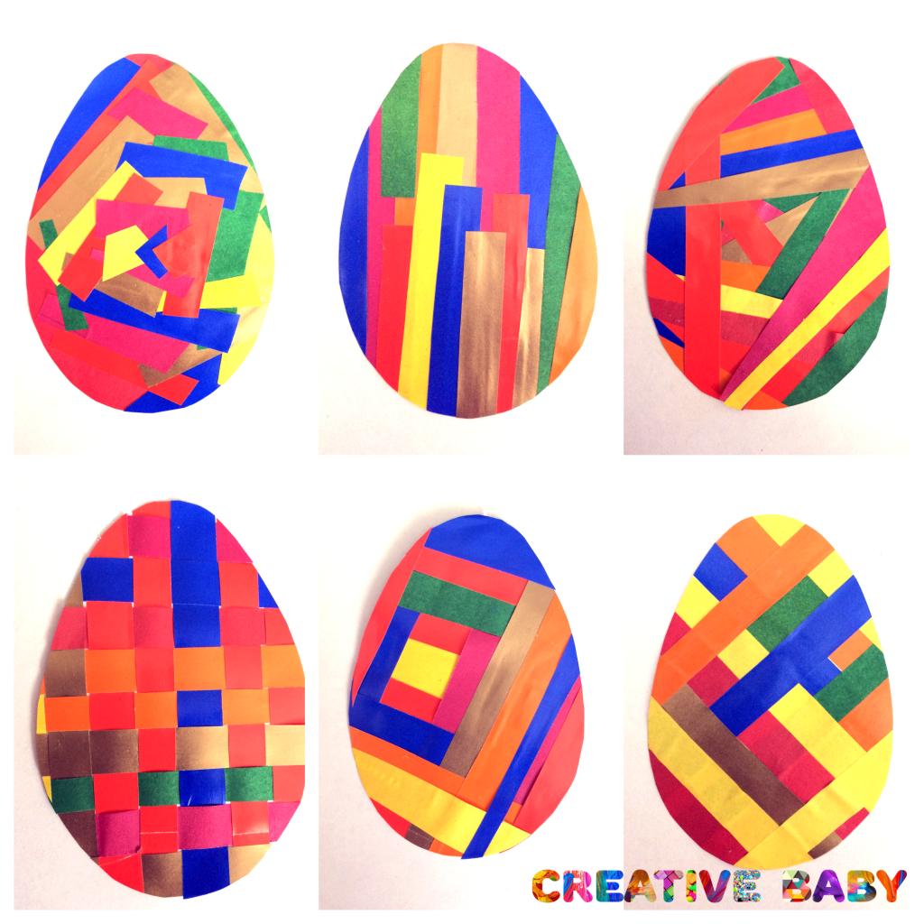 """Аппликация """"Пасхальные яйца"""" из цветной бумаги"""