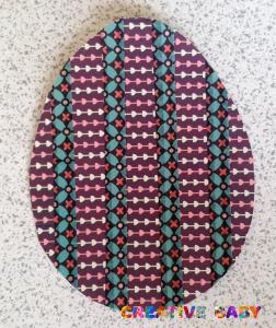 Пасхальное яйцо из декоративного скотча