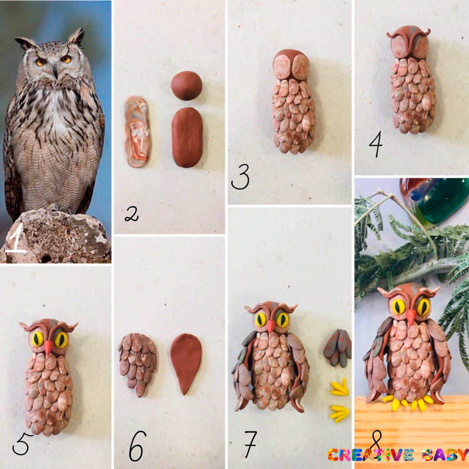 Птичий дворик из пластилина