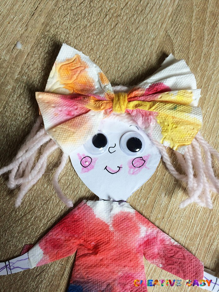 """Бумажная игрушка """"Кукла"""""""
