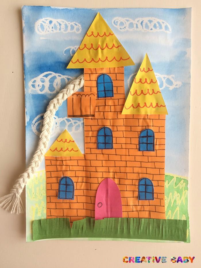 Принцесса Рапунцель в замке