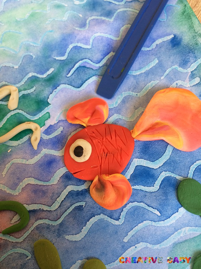 «Подводный мир» из пластилина