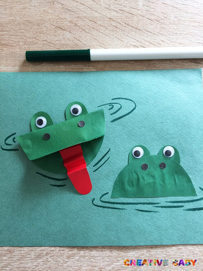 Аппликация «Лягушки на пруду»