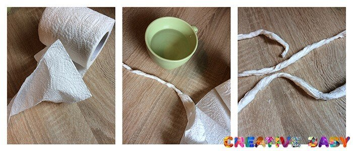 Улитка из туалетной бумаги